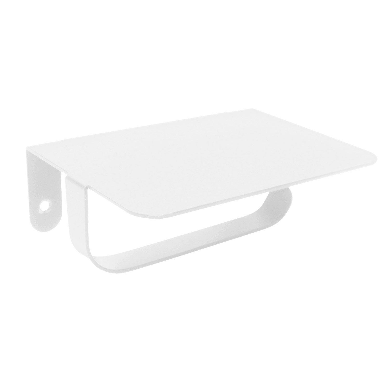 Dérouleur à papier WC métal avec tablette, blanc-blanc n°0, scandi