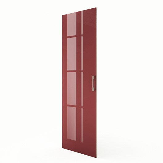 Porte colonne de cuisine rouge f60 200 grenade x h - Colonne de cuisine 60 cm ...