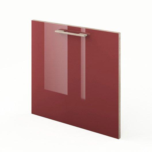 Porte lave vaisselle de cuisine rouge fdsh60 grenade for Porte 60 cm cuisine