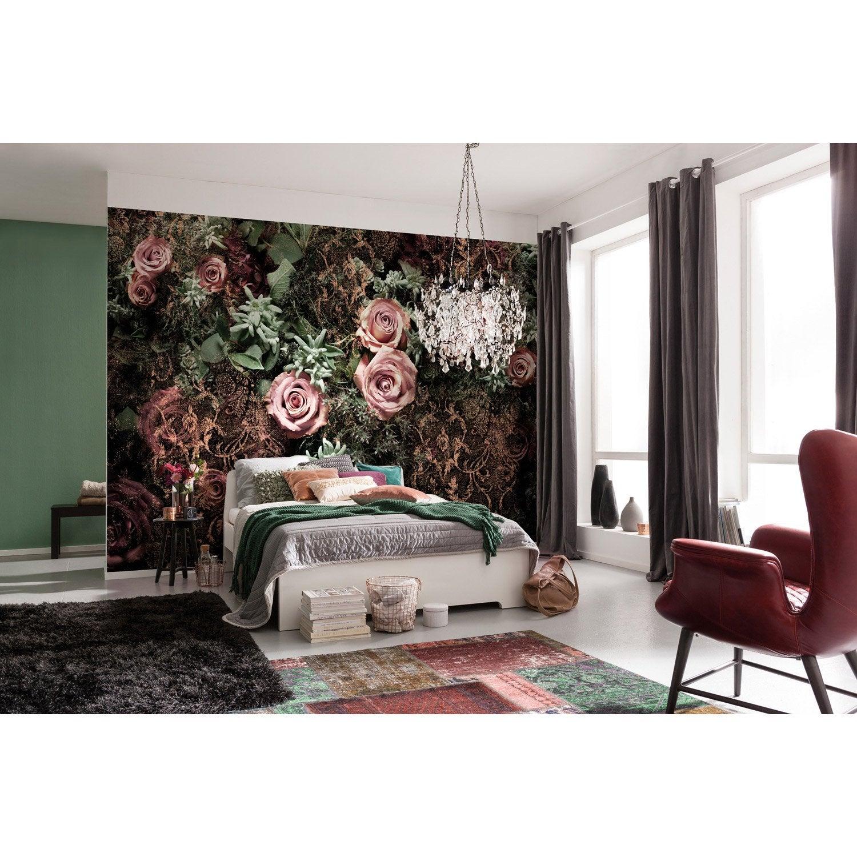 Photo murale Velvet rose, vert & noir papier KOMAR l.368 x H.254 cm