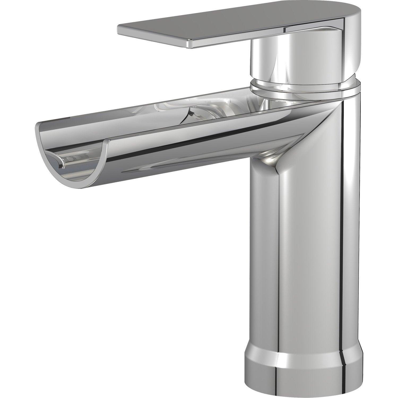 Mitigeur de lavabo cascade chromé Cascato