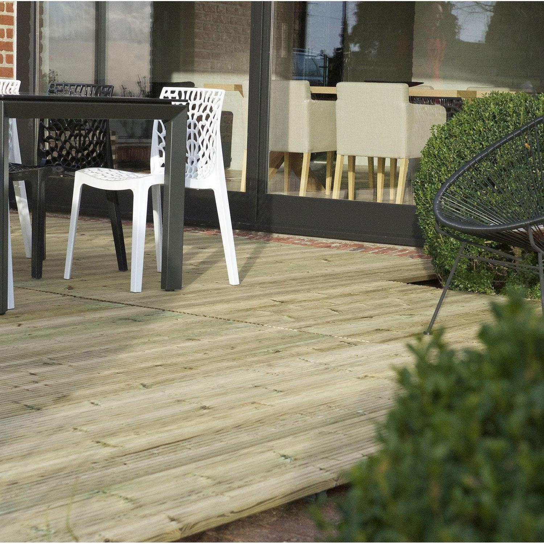 Vente Bois Pour Terrasse terrasse bois deckklick norsilk, brun, l.226 x l.90 cm x ep.60 mm