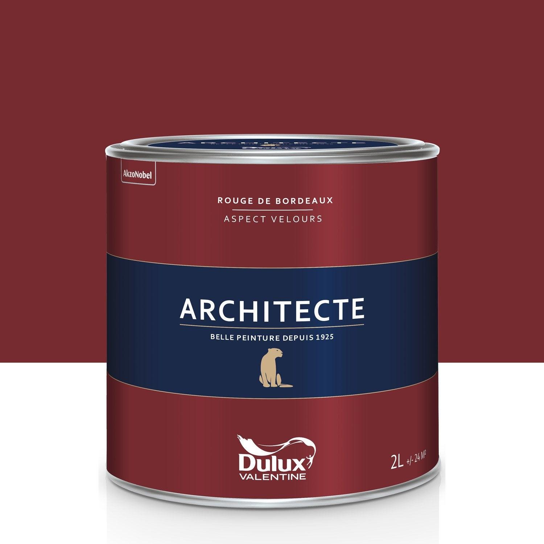peinture rouge bordeaux velours dulux valentine architecte 2 l leroy merlin. Black Bedroom Furniture Sets. Home Design Ideas