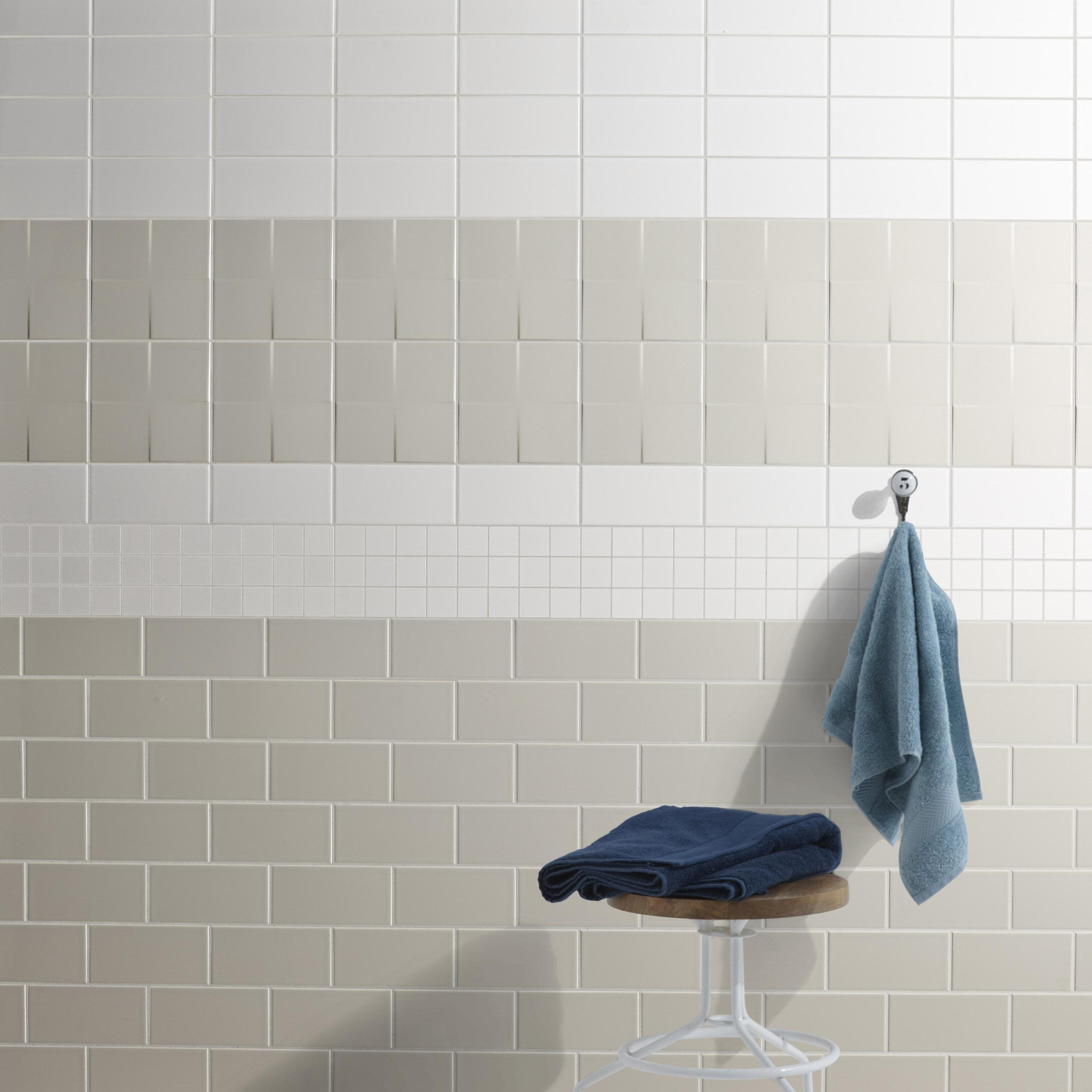 Faïence mur blanc-blanc n°0 brillant l.10 x L.20 cm, Astuce