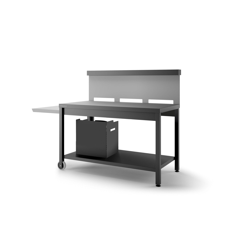 Comment Fabriquer Une Plancha table roulante crédence pour plancha forge adour, noir et gris clair mat