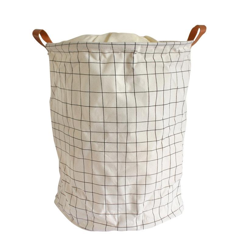 Panier à Linge Textile Pop Up School Beige L40 X H50 X P40 Cm