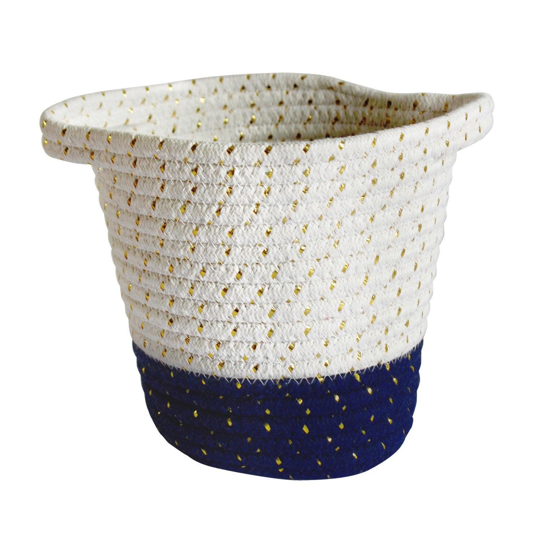 Panier en coton saphir n°1, Cordou