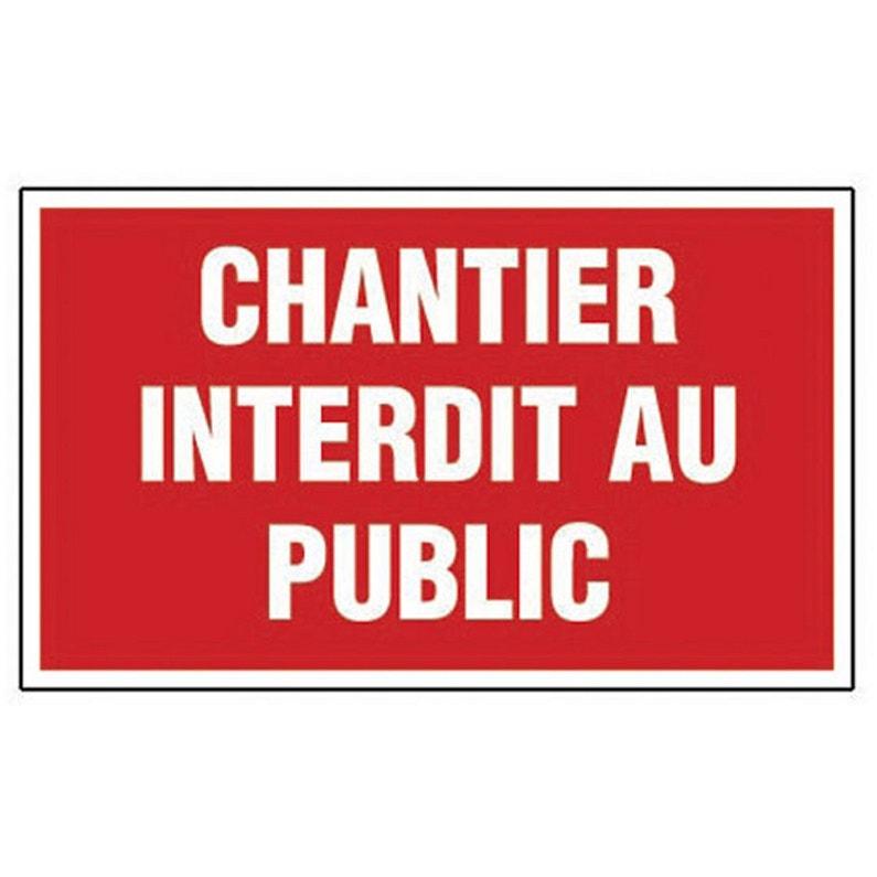 Panneau Chantier Interdit Au Public En Plastique