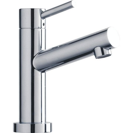 Robinet lave mains eau froide chrom x trend leroy merlin - Robinet lave main eau froide ...