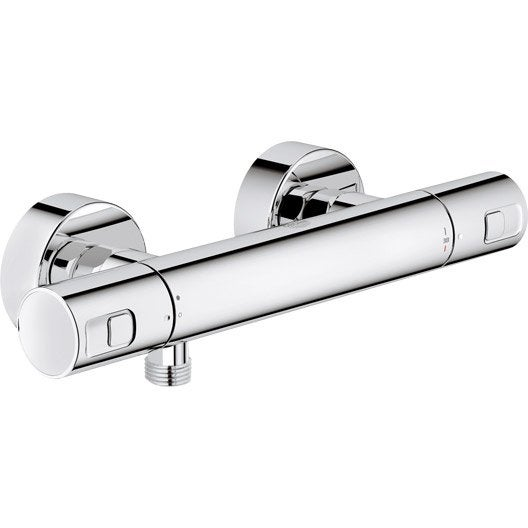 mitigeur thermostatique de douche chromé, grohe precision joy