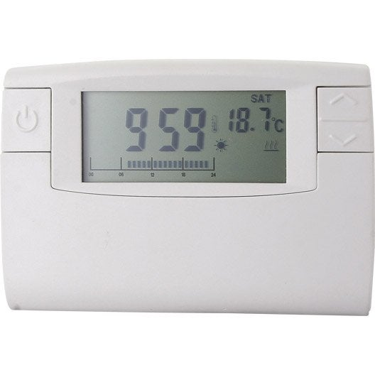 Thermostat programmable filaire crono 911 celcia 1380w 6a leroy merlin - Thermostat leroy merlin ...
