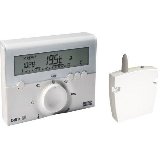 Thermostat et programmateur de chauffage radiateur s che serviettes chaudi re r gulation et - Delta dore chauffage ...