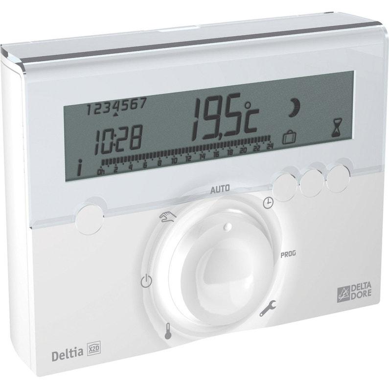 Audacieuse Thermostat programmable sans fil DELTA DORE Deltia 8.03 | Leroy Merlin NY-32