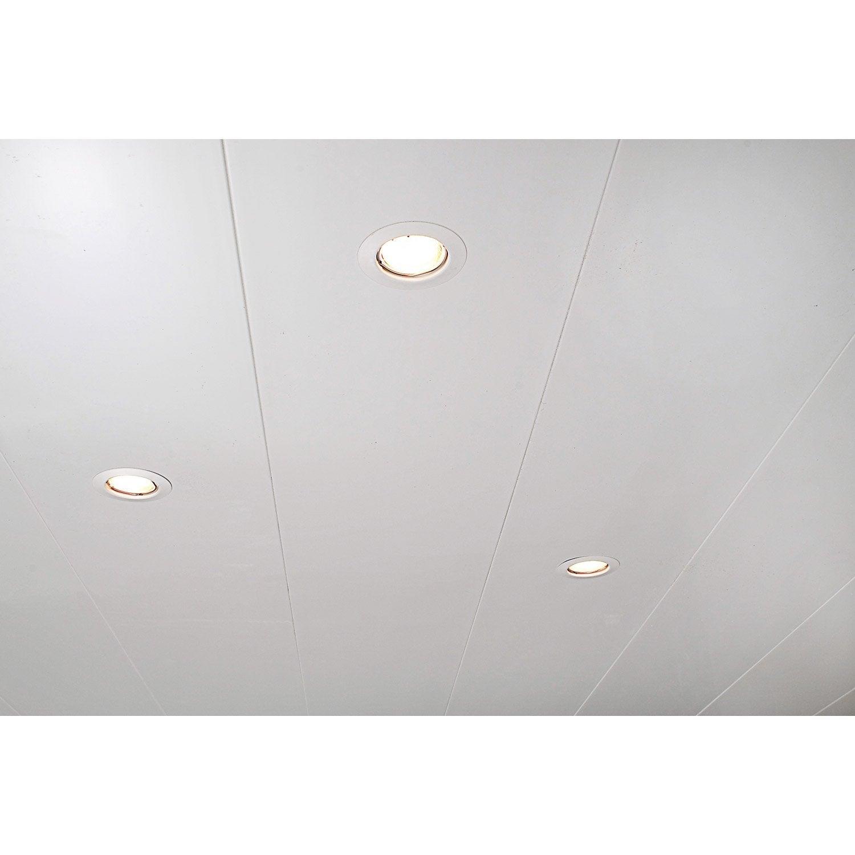 Lambris pvc blanc artens x cm x mm - Lambris pvc blanc brillant pour plafond ...