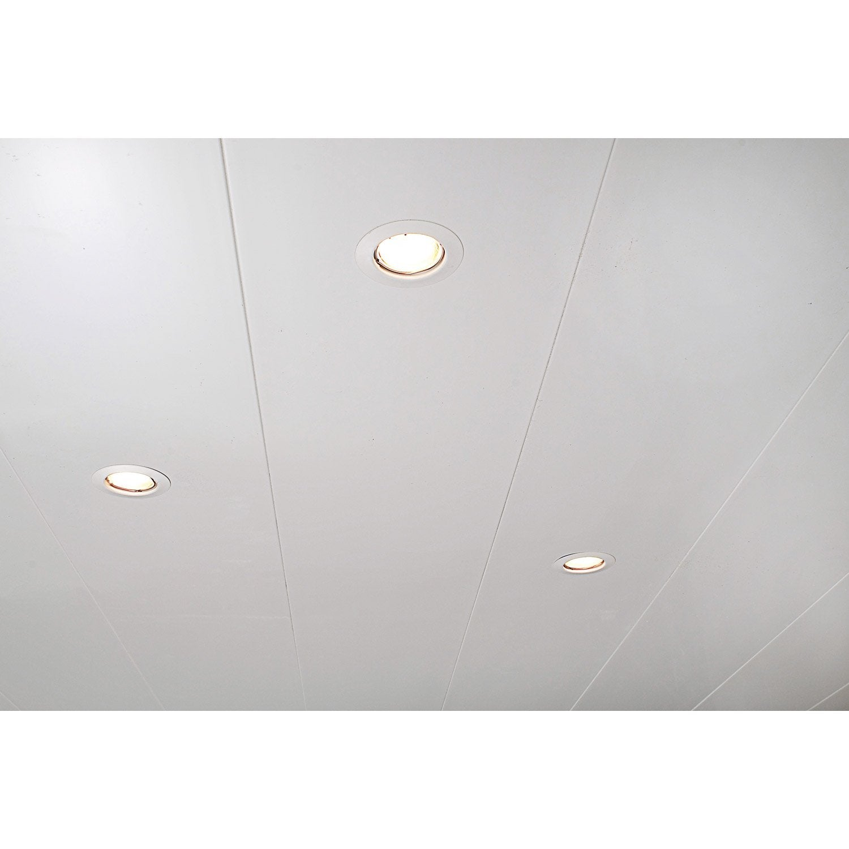 Lambris PVC Blanc ARTENS L.400 X L.25 Cm X Ep.10 ...