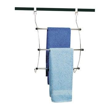 Porte serviettes suspendre astuce - Porte serviette salle de bain leroy merlin ...