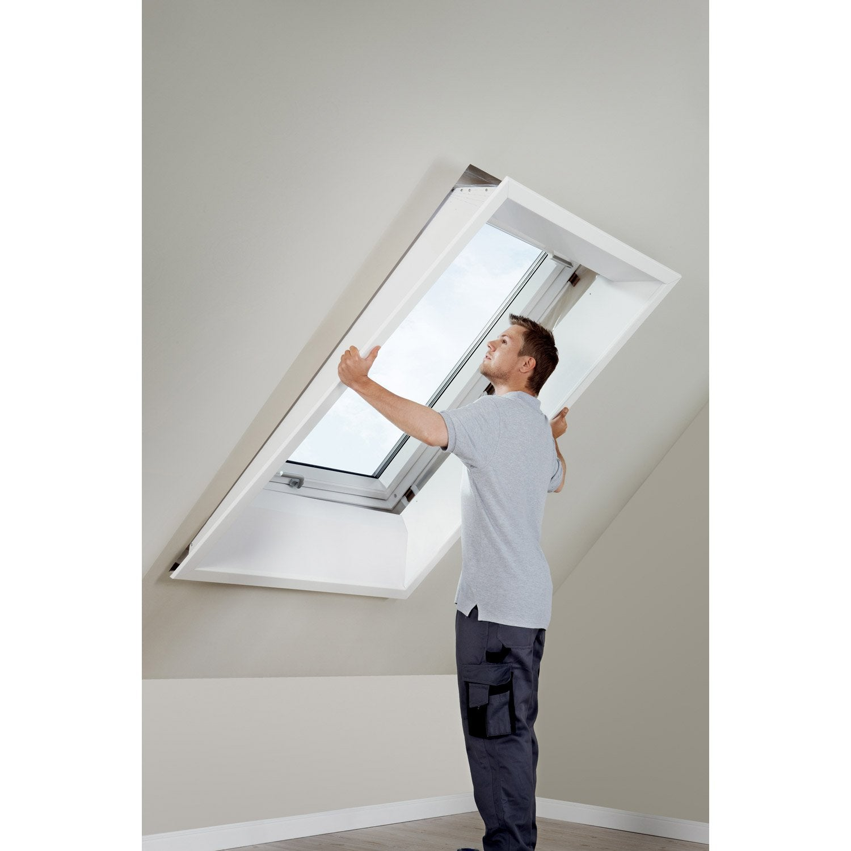 Comment Habiller Un Velux Avec Des Rideaux habillage intérieur pour fenêtre de toit velux lsb mk04 2000, blanc