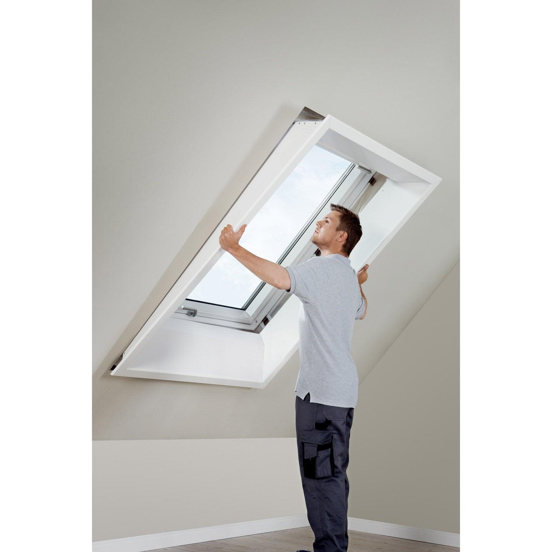 habillage int rieur pour fen tre de toit velux lsb sk06 2000 blanc leroy merlin. Black Bedroom Furniture Sets. Home Design Ideas