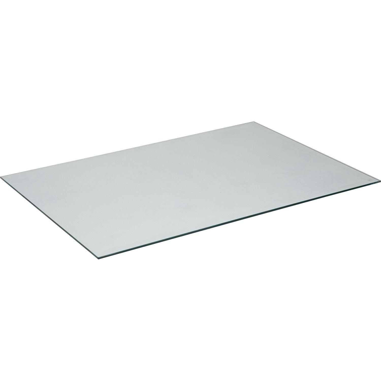 Plateau de table verre x cm x ep 8 mm leroy for Plaque de plexiglas leroy merlin