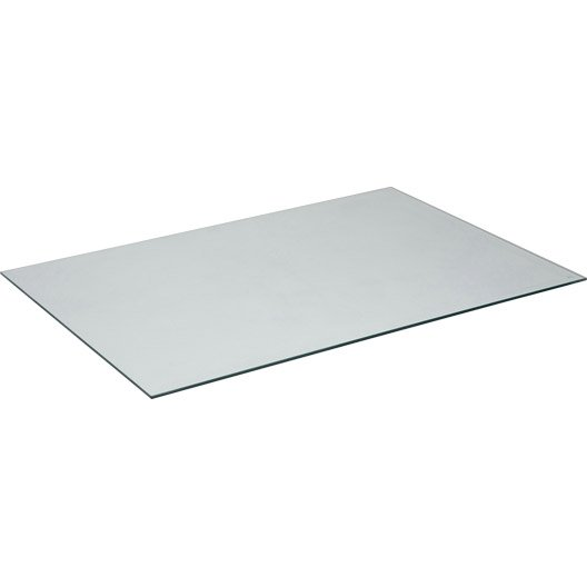 Plateau de table verre x cm x ep 8 mm leroy for Table exterieur verre