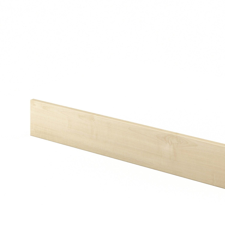 Plinthe de cuisine blanc ines x cm leroy for Plinthe cuisine 17 cm