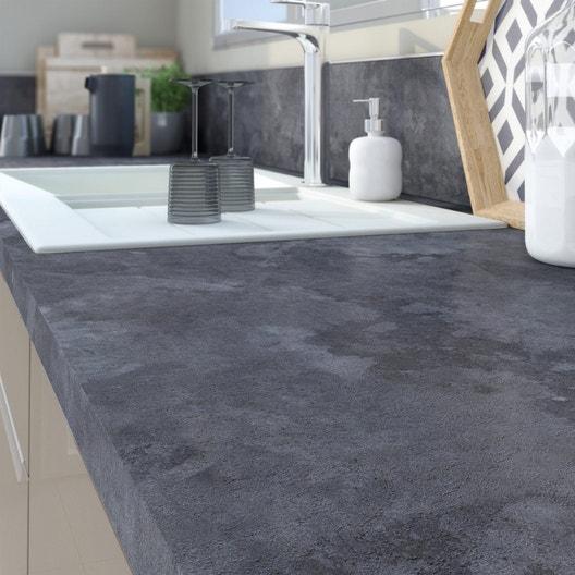 plan de travail stratifi effet pierre noire mat x cm mm leroy merlin. Black Bedroom Furniture Sets. Home Design Ideas