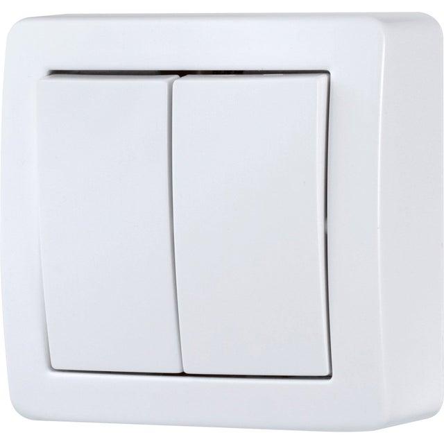Double Interrupteur Va Et Vient Saillie Schneider Electric Alréa Blanc