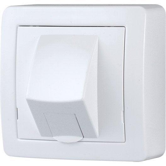 prise rj45 saillie alr a schneider electric blanc leroy merlin. Black Bedroom Furniture Sets. Home Design Ideas