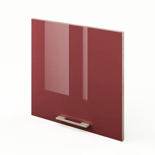 Porte de cuisine rouge f60 54 grenade x cm for Porte 60 cm cuisine