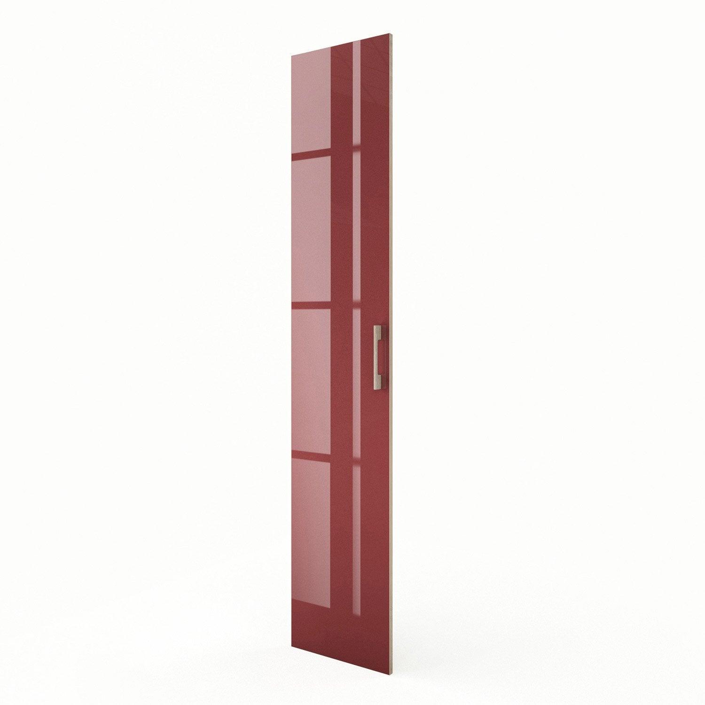 Porte colonne de cuisine rouge grenade x cm for Colonne cuisine 40 cm