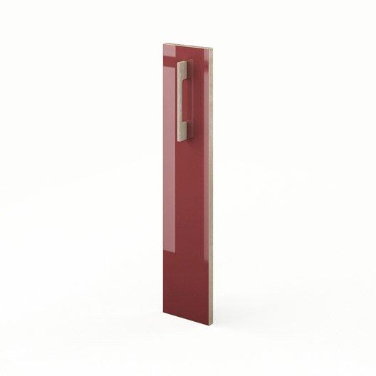 Porte de cuisine rouge f15 grenade x cm leroy for Porte 70 cm largeur