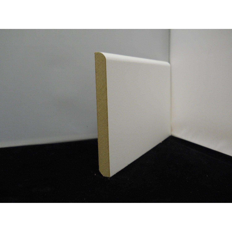Plinthe Médium Mdf Arrondie Prépeint Blanc 12x 120 Mm L244 M