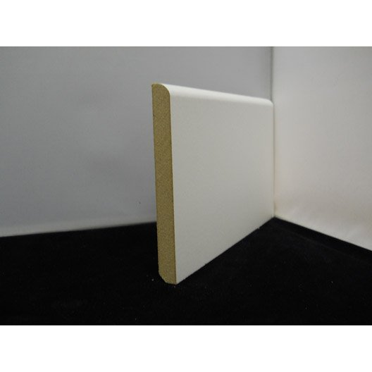 plinthe m dium mdf arrondie pr peint blanc 12x 120 mm l m leroy merlin. Black Bedroom Furniture Sets. Home Design Ideas