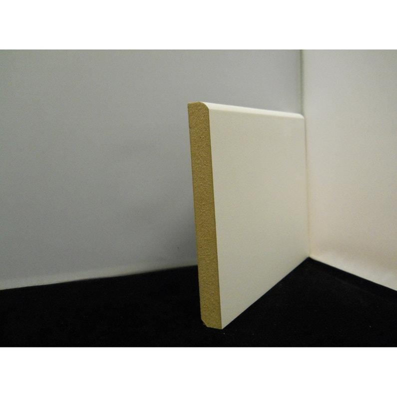 Plinthe Médium Mdf Arrondie Prépeint Blanc 16 X 150 Mm L244 M