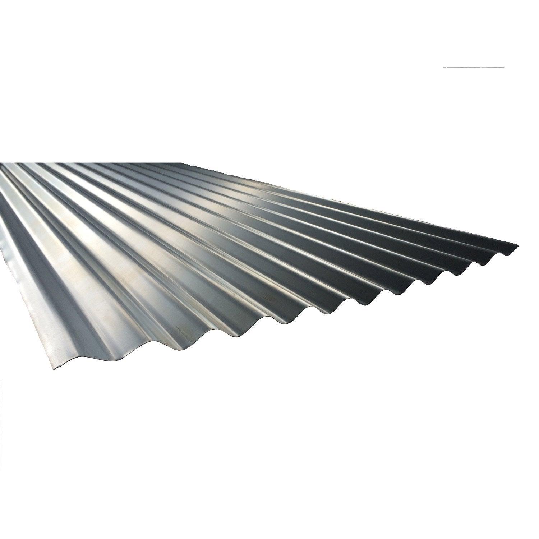 plaque nervur acier acier galvanis gris plaque galva po 3m l 1 x l 3 m leroy merlin On plaque acier