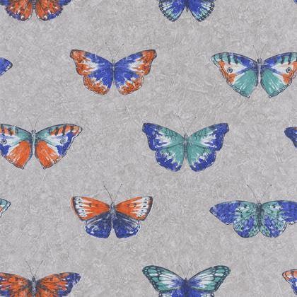 Papier Peint Papillons Multicolore Fonce Gris Intisse Street Art