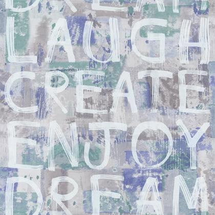 Papier Peint Wording Graf Bleu Intisse Street Art Leroy Merlin
