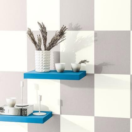 Papier Peint Cube Blanc Gris Irise Intisse Shades Leroy Merlin