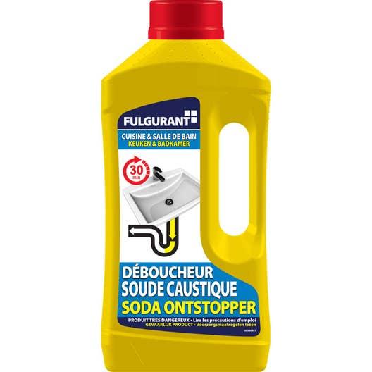 D boucheur soude liquide fulgurant sanitaire 1 l leroy merlin - Produit deboucher canalisation ...