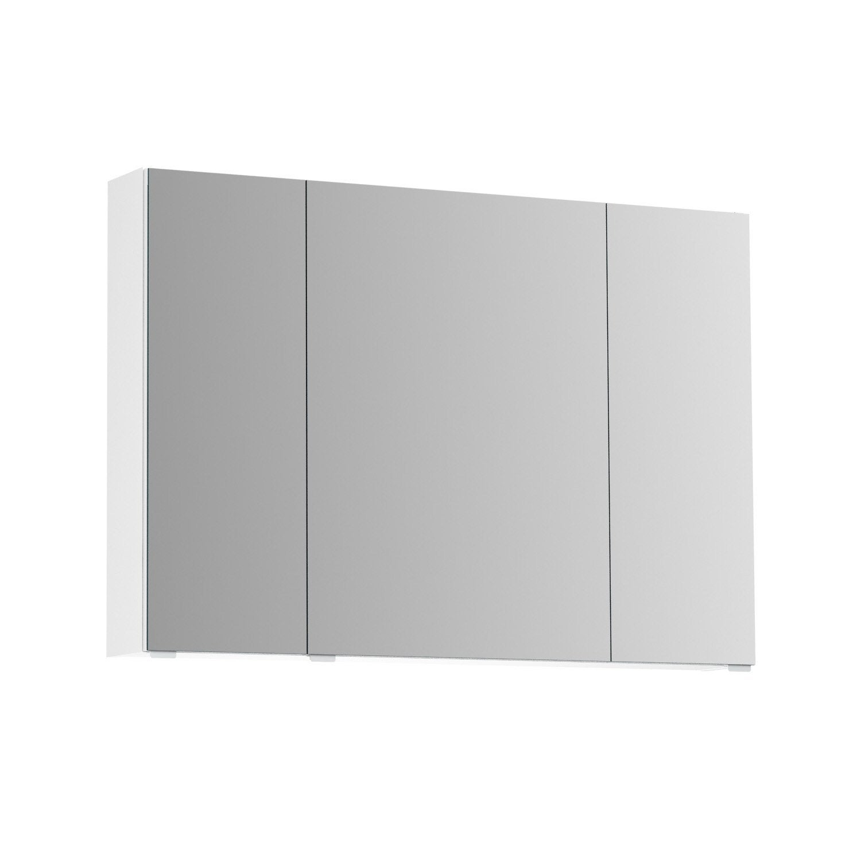 Armoire De Toilette Avec Prise Et Interrupteur.Armoire De Toilette L 100 Cm Blanc Opale