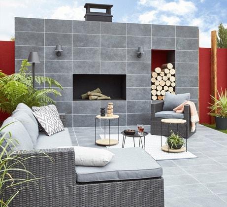 les tapis d 39 ext rieur la touche d co au jardin leroy merlin. Black Bedroom Furniture Sets. Home Design Ideas