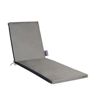 Coussin de bain de soleil gris métal Top