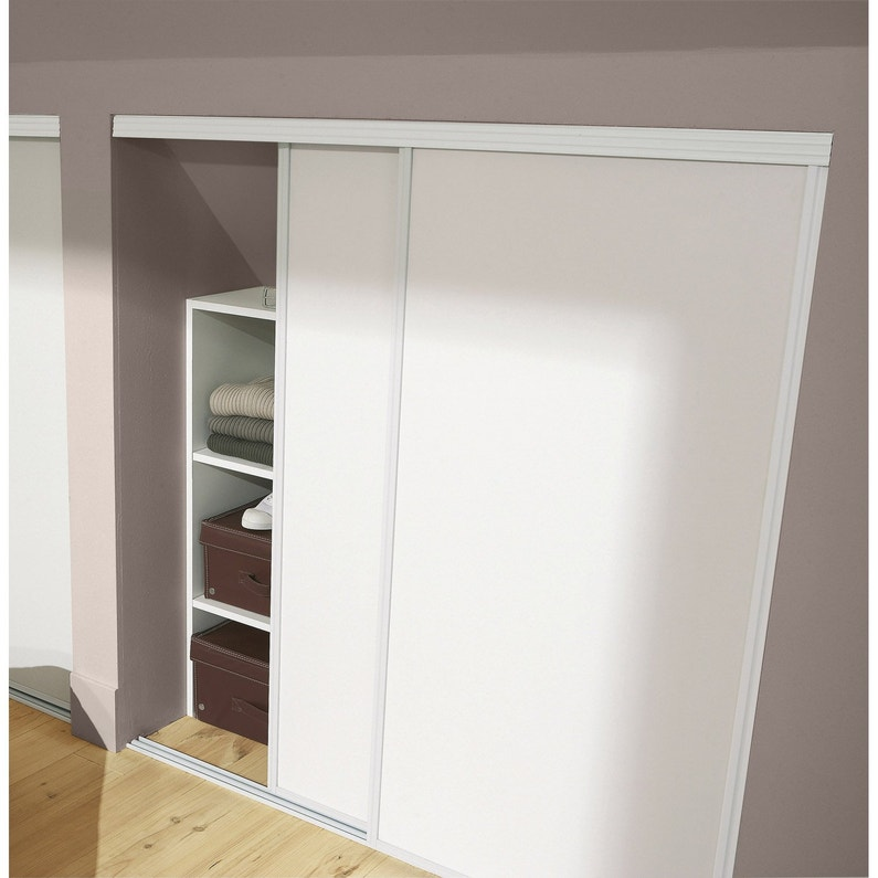 Lot de 2 portes de placard coulissante OPTIMUM l.120 x H.120 cm