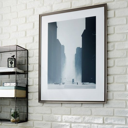 cadre pep 39 s 50 x 70 cm marron leroy merlin. Black Bedroom Furniture Sets. Home Design Ideas