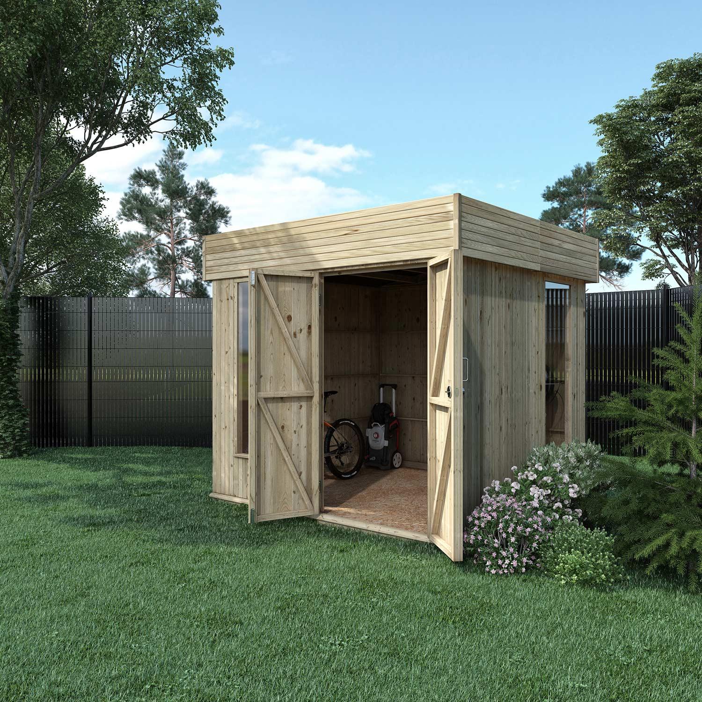 le dernier b331c a7413 Abri de jardin bois Hutta l moderne Ep.15 mm, 5.15 m²
