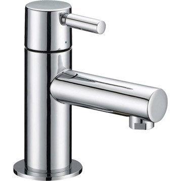 Robinet de lave-mains eau froide chromé Tiga