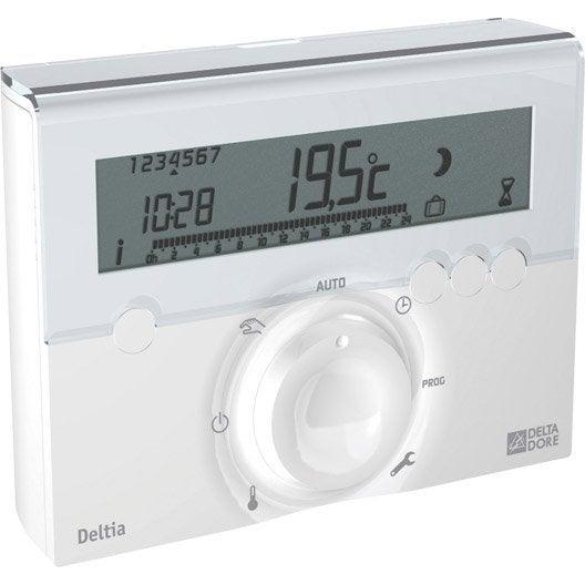 Thermostat programmable filaire delta dore deltia leroy merlin - Delta dore chauffage ...