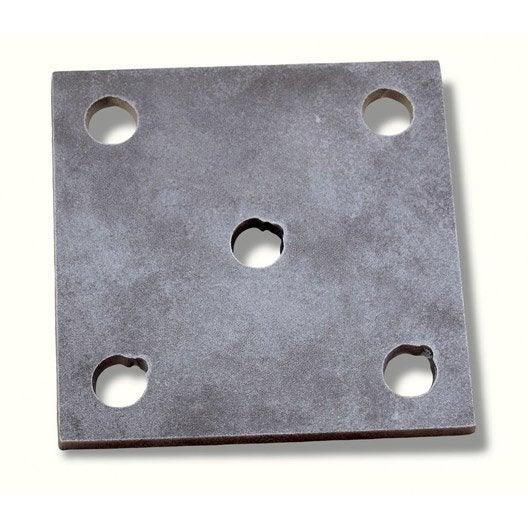 Platine souder ou visser fer brut 10 x 10 cm leroy merlin - Plaque en fer leroy merlin ...