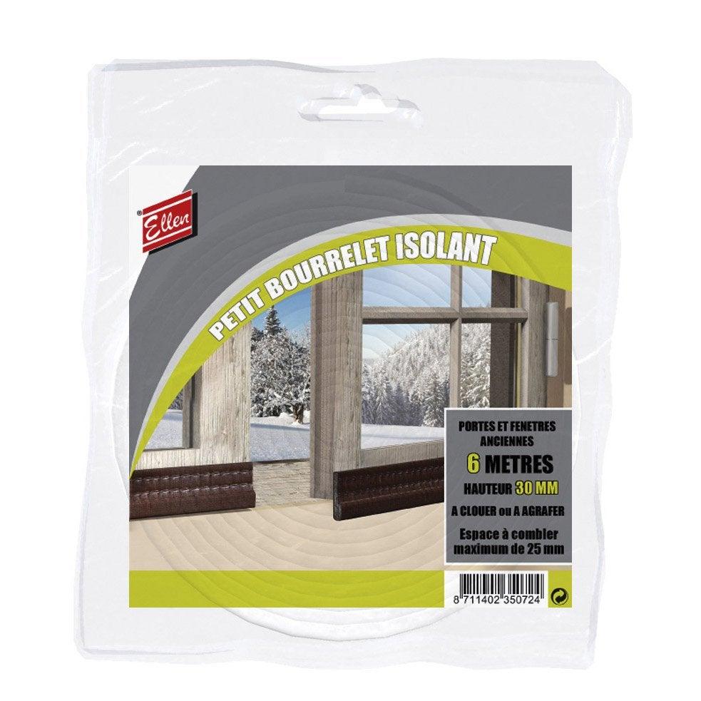 joint de porte et fen tre universel ellen de 1 25 mm x 6 m blanc leroy merlin. Black Bedroom Furniture Sets. Home Design Ideas
