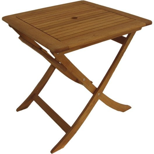 Table de jardin carr e robin naterial 2 personnes leroy - Table de jardin 2 personnes ...